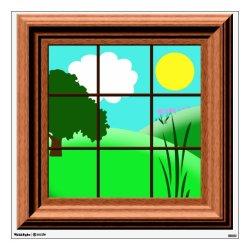 window cartoon cute colorful decal