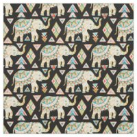 Indian Elephant Fabric | Zazzle