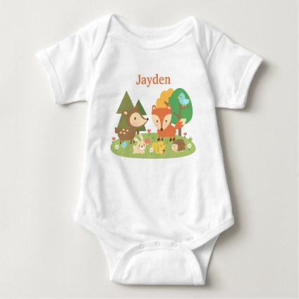 Woodland Animal Baby Bodysuit