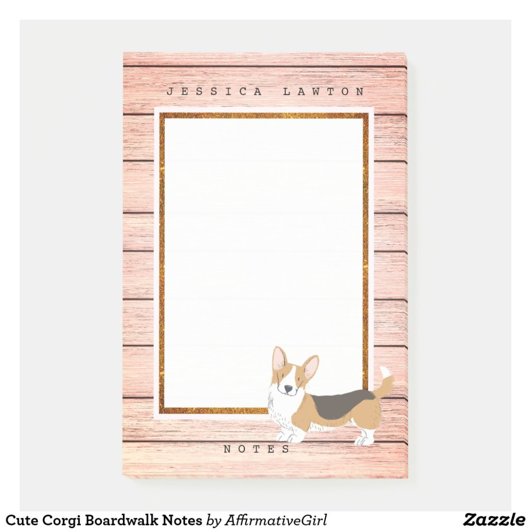 Cute Corgi Boardwalk Notes