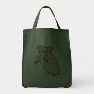 Cute Custom Hamster Graphic Grocery Tote Bag
