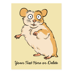Cute Custom Hamster Graphic Postcard