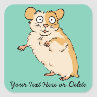 Cute Custom Hamster Graphic Square Sticker