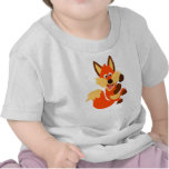 Cute Dancing Cartoon Fox Baby T-Shirt