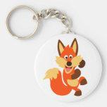 Cute Dancing Cartoon Fox Keychain