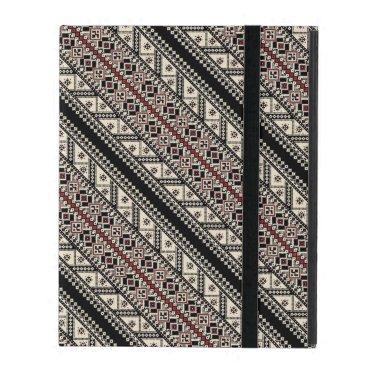 Cute decorative ukrainian patterns design iPad case