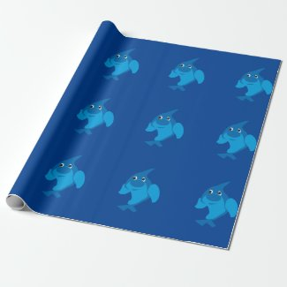 Cute dolphin Wrapping Paper