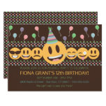 ❤️ Cute Emoji Birthday Party Invitation