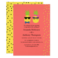 Cute exotic tropical summer Beach Wedding Card