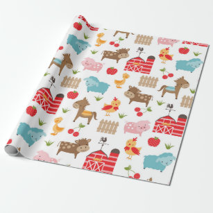 animals wrapping paper zazzle