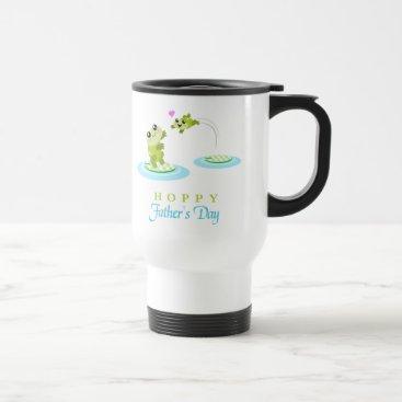 Cute Frog Hoppy Happy Father's Day Travel Mug