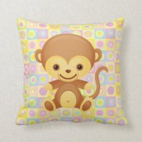 Cartoon Monkey Pillows - Decorative & Throw Pillows | Zazzle