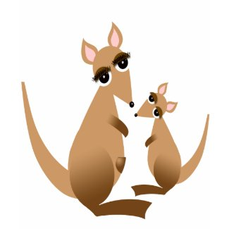 Cute funny Kangaroo and Joey zazzle_shirt