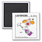 Cute Funny Wine Lovers Cartoon Fridge Magnet magnet