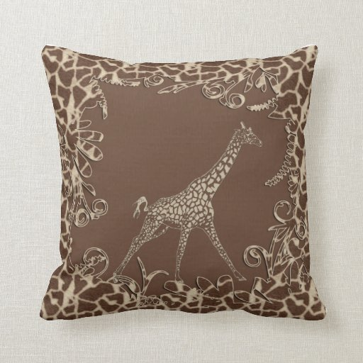 Cute Giraffe Throw Pillows  Zazzle