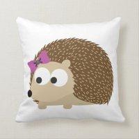 cute Girl hedgehog Throw Pillow | Zazzle