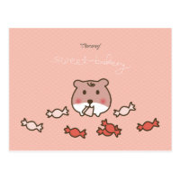 cute greetings postcard