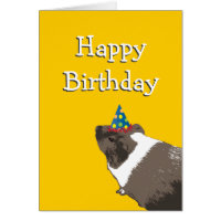 Cute Guinea Pig Happy Birthday Card