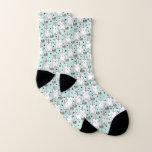 Cute Hand Drawn Unicorn Cat Pattern Socks