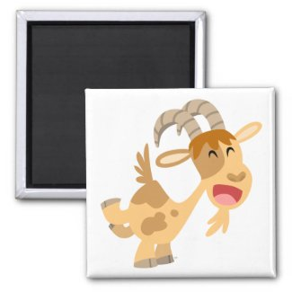 Cute Happy Cartoon Goat Magnet magnet
