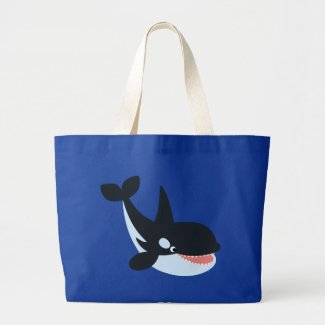 Cute Happy Cartoon Killer Whale Bag