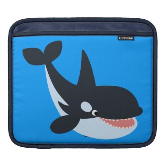 Cute Happy Cartoon Killer Whale iPad Sleeve