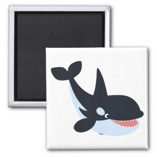 Cute Happy Cartoon Killer Whale Magnet
