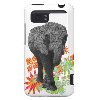 Cute Hippie Elephant HTC Vivid Cases