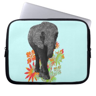 Cute Hippie Elephant Laptop Sleeves