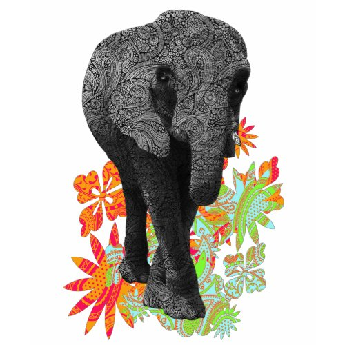 Cute Hippie Elephant zazzle_shirt