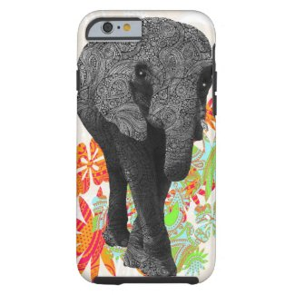Cute Hippy Elephant Barely There iPhone 6 Case