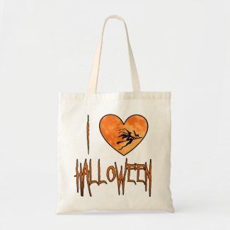 Cute I Love Halloween Trick or Treat Bag