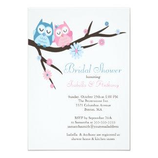 Owl Wedding Invitation Square Card Cute