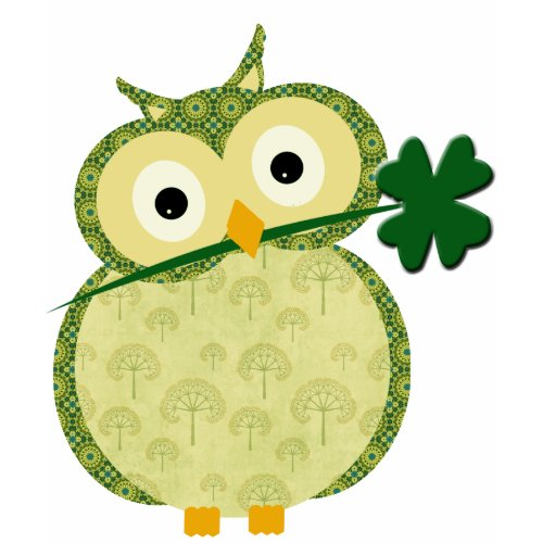 Cute Irish owl with Shamrock t-shirt shirt