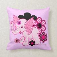 Cute Kawaii Elephant Throw Pillow | Zazzle