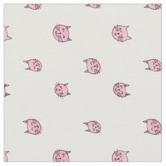 Cute Kitty Print Fabric