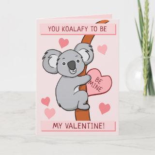 Cute Koala-ty Valentines Greeting Card