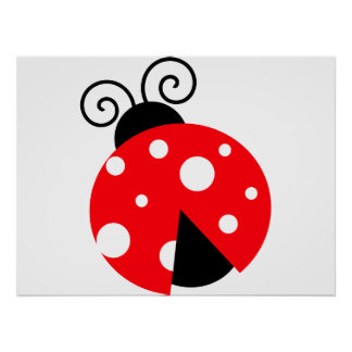 ladybug drawing posters zazzle