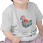 Cute Laughing Cartoon Hippo Baby T-Shirt