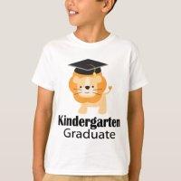 Cute Lion Kindergarten Graduation Gift T-Shirt   Zazzle