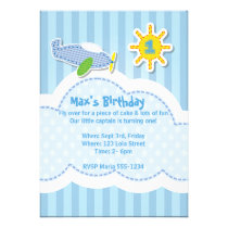 Cute Little Boy's Birthday Party Invitation