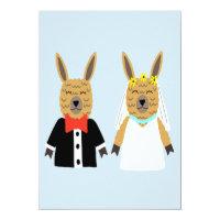 Cute Llama Bride and Groom Card