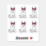❤️ Cute Llama Queen Die Cut Stickers