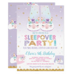 Cute Llama Sleepover Birthday Party Girls Slumber Invitation