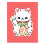 Cute Maneki Neko Postcard