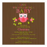 Cute Modern Owl Baby Shower Invitations (other neat owl invitations also available  - including twins!)