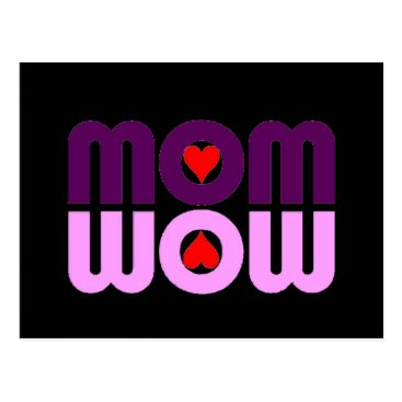 Cute Mom reflection with hearts Postcard