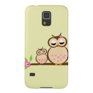 Cute mother and baby owl galaxy s5 covers
