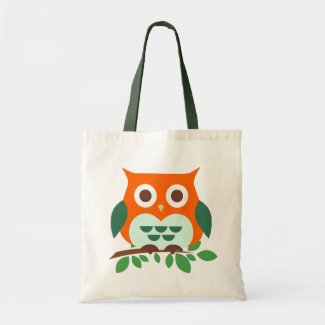 Cute Owl on a Branch Tote Bag