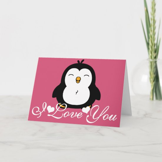Cute Penguin I Love You Card